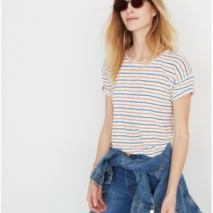 Madewell Crewneck Tee in Brion Stripe